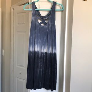 Tie-dye blue sun dress